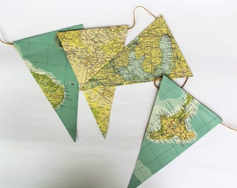 Flags line | flags with paper of atlas, maps, world maps