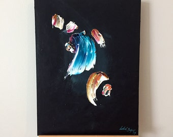 Fragment - Original Abstract Acrylic Painting on MDF Board