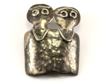 Vintage Couple Pin/Brooch 925 Sterling Silver BB 1111