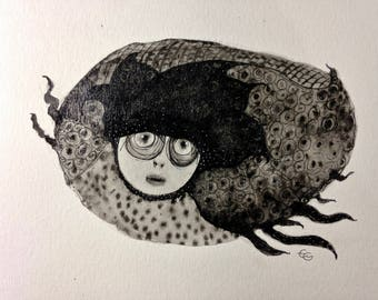 The witch-chip, ink and wash