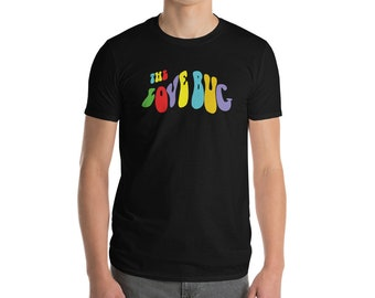 The Love Bug Hippy Flower Power Font Short-Sleeve T-Shirt S, M, L, XL, 2XL in Multiple Colors