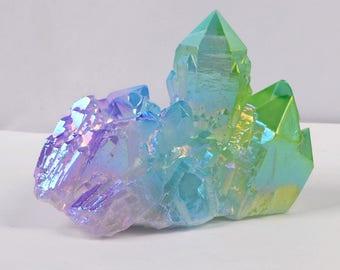 5pieces/lot,Aura Crystal Cluster,Rainbow Aura Quartz,Raw Angel Aura Rainbow Crystal,Crystals and Stones ,Raw Angel Aura Cluster,Aura Crystal