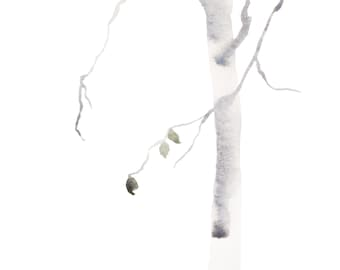 solitary no. 2 . giclee fine art print of watercolor