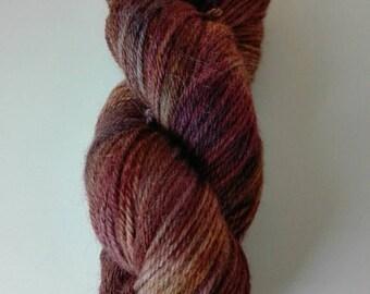 100 gram yarn with alpaca hand dyed Leberblümerl