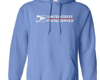 USPS Carolina Blue Hooded Postal Sweatshirt.