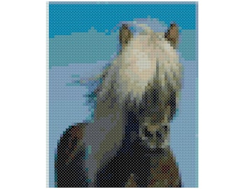 Cross stitch iceland horse pdf pattern