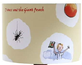 Roald Dahl Design James and the Giant Peach Lampshade Ceiling pendant or Table Lamp