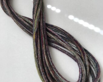 Felted Necklace Multi Color Infinity Long Merino Wool Silk - Jamaica