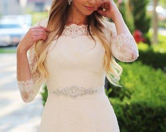 Bridal belt - bridal sash - crystal sash - wedding sash - rhinestone sash - wedding belt - rhinestone bridal belt - bridal sashes and belts