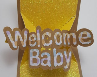 Welcome Baby Pop and Twist Card - (AI, dxf, eps, jpg, pdf, png, Studio, SVG) – Instant Download