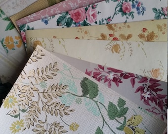 Zoë's Vintage Floral Wallpaper Scrap Pack | 8 x 10 Sheets