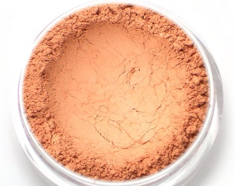 "Matte Coral Blush - ""Sweet Ginger"" (natural matte coral/melon/peach blush Net Wt 4.5g) - Vegan Mineral Blush Powder"