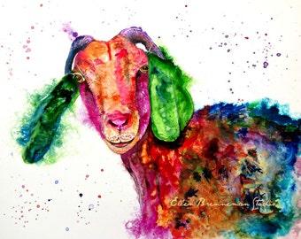 Goat: farmhouse decor kitchen decor nursery art nursery decor nursery prints kitchen art goat gifts animal print country home decor goat art