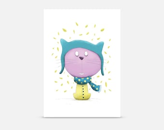 Cat with a Hat, Postcard A6
