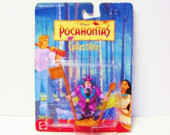 Pocahontas John Ratcliffe-Disney Animated Movie Action Figure-Mattel Toy Indian Chief Character-Orignal Packaging MOC on Backing-1995 Film