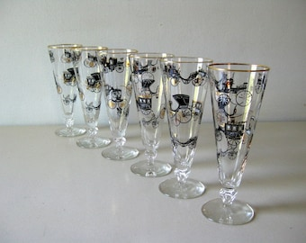 Vintage 1960s barware Vintage tall glasses