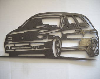 Plate teaches RENAULT CLIO williams iron hammered effect paint finish
