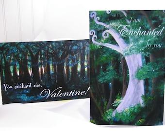 Mini Valentines, set of 25, assorted images of original artwork