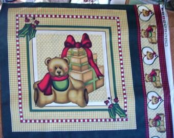 Tissu Petit panneau coussin OURSON  et Cadeaux vintage