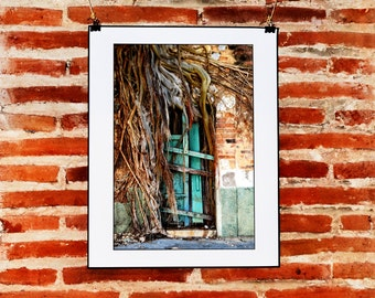 Mexican Rustic and Urban Door Wall Decor, Instant Download Photography, Rustic Door Wall Art, Mexican Decor, Fine Art Nature Photography