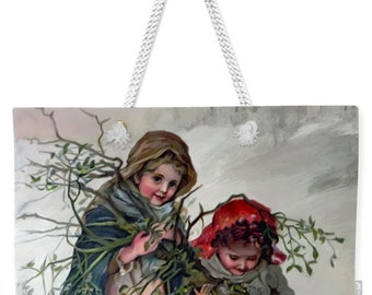 "24"" x 16"" Oversized  Weekender Tote Bag - Christmas Shopping Bag"