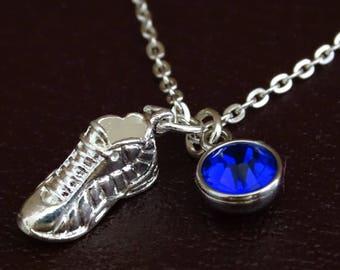 Runner Necklace, Running Shoe Necklace, Running Shoe Charm, Running Shoe Pendant, Runner Jewelry, Runner Girl Necklace, Running Girl Jewelry