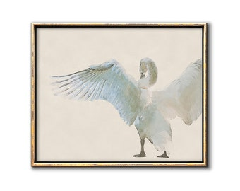 Swan Nursery Decor, Nursery Art Printable, Neutral Nursery Decor, Swan Wall Art, Bird Decor, Digital Download Art, Sophisticated Nursery Art