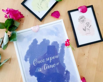 "Poster ""Once upon a time"" A4 size"