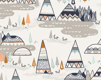 Rustic Woodland Fabric, INDIAN SUMMER Woodland Oak, Sarah Watson, Art Gallery Fabrics, Woodland Nursery Decor, Baby Boy Quilt, By the Yard
