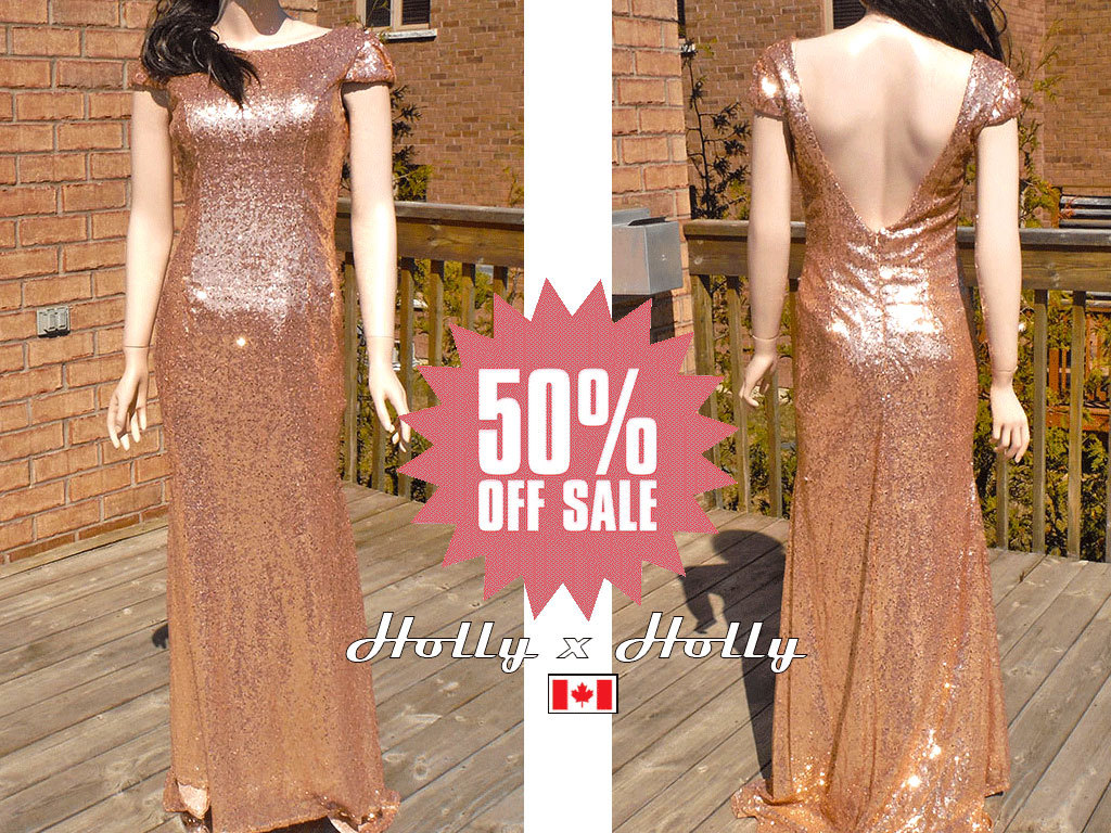 Rose gold sequin bridesmaid dress blush gold bridesmaid zoom ombrellifo Images