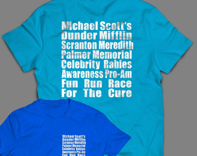 """Featured listing image: The Office """"Meredith Rabies Awareness Fun Run"""" Shirt Inspired by the TV Show  Men's, Women's and Long Sleeve Available"""