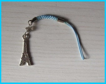 Jewel phone or bag with Eiffel Tower charm.