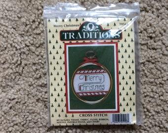 Cross stitch Christmas ornament kit