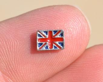 1 Memory Locket British Flag Charm FL210