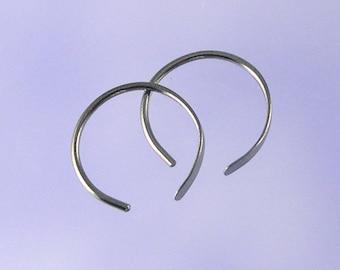 KISS9: Open hoop niobium earrings