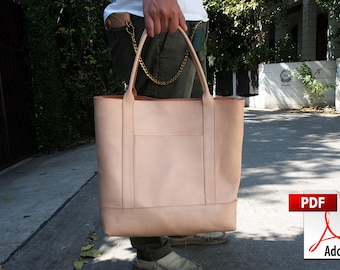 Leather Bag Pattern (PDF Files): Leather City Tote Bag (with how to guide)