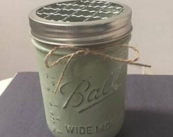 Hand Painted Wide Mouth Pint size Mason Jar