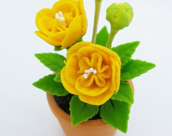 Miniature Polymer Clay Flowers Supplies for Dollhouse and Handmade Gifts 1 piece