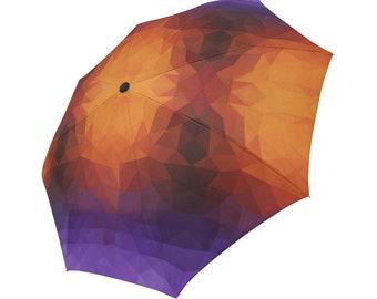 Purple Umbrella Orange Umbrella Designed Umbrella Geometric Pattern Umbrella Rainbow Umbrella Photo Umbrella Automatic Abstract Umbrella
