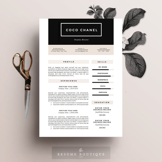 Resume template 5 page pack cv template cover letter for yelopaper Gallery