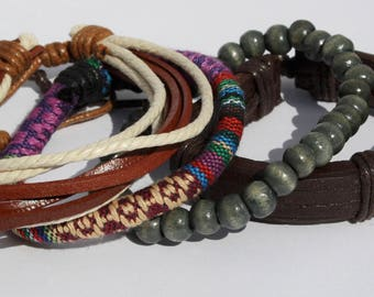 Multi pack Leather Charm Bracelets