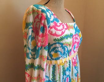 Vintage 1960s/70s Lilly Pulitzer Floral maxi dress