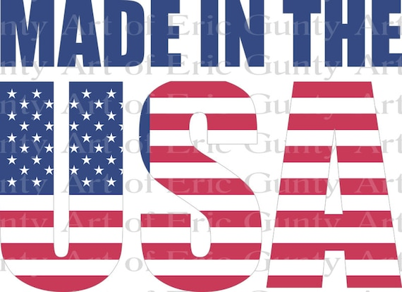 Made in the USA America Birthday - Edible Cake and Cupcake Topper For Birthdays and Parties! - D24004