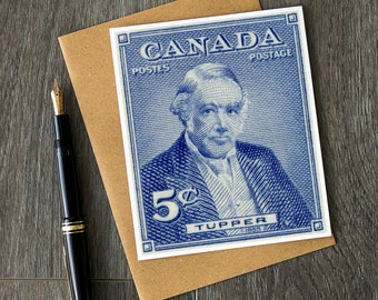 Sir Charles Tupper, history teacher retirement, canadian history, history classroom, retirement cards, birthday cards, canada cards, vintage