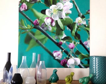 """Apple blossoms poster""""floral photo, large size"""