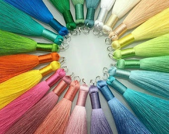8cm Silk Tassel Jewelry Accessories/accessories parts/diy accessories/hand made/jewelry making/diy jewelry/crafting/FREE SHIPPING