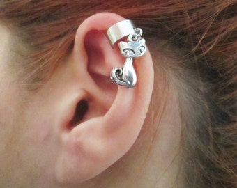 Unique little cat ear cuff wrap - no piercing required