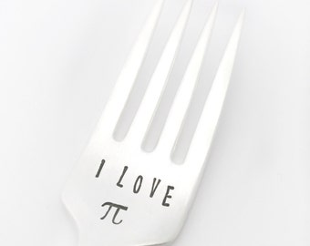 I Love Pi | Math Teacher Gift | Pi Day Teacher Gift | Pie Fork for Pi Day | STEM Gift | Pi Day | Nerdy Pi Gift