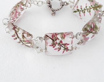 This bracelet from Heather in a transparent resin
