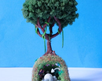 Miniature polymer clay Totoro sculpture
